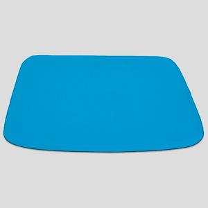 Azure Blue Solid Color Bathmat