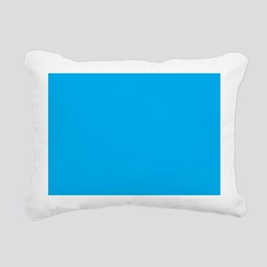 Azure Blue Solid Color Rectangular Canvas Pillow