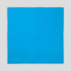 Azure Blue Solid Color Queen Duvet