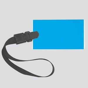 Azure Blue Solid Color Luggage Tag