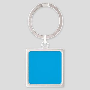 Azure Blue Solid Color Keychains