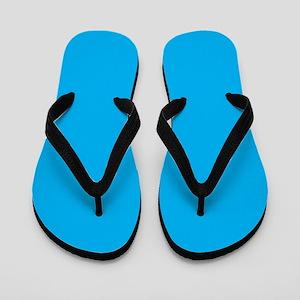 a63fa83add6a Azure Blue Solid Color Flip Flops