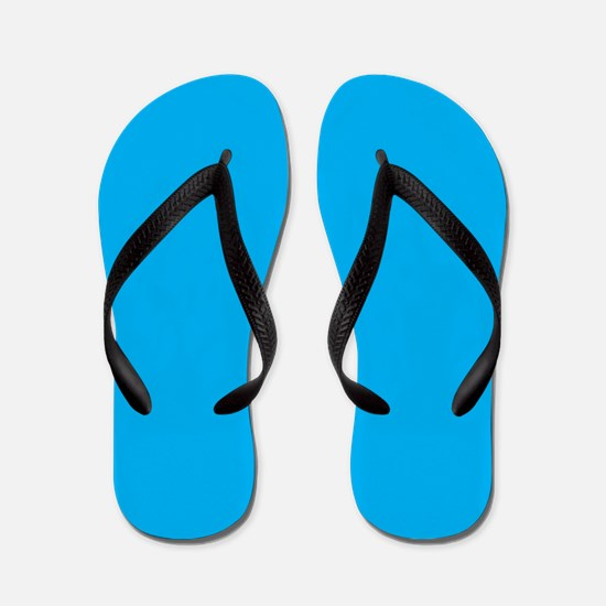 Azure Blue Solid Color Flip Flops