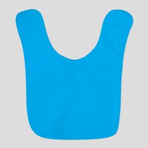 Azure Blue Solid Color Bib