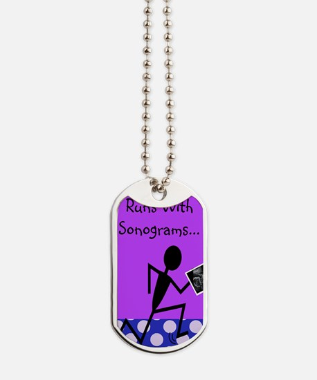Cute Sonography student Dog Tags