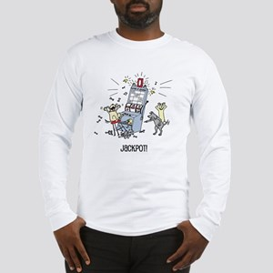 dog hits jackpot Long Sleeve T-Shirt