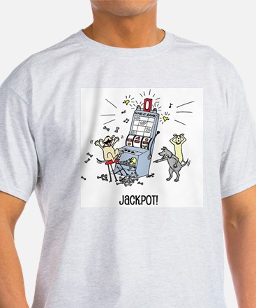 dog hits jackpot T-Shirt