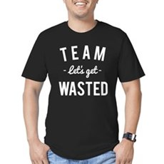 Team Let's Get Wasted Men's Fitted T-Shirt (dark)