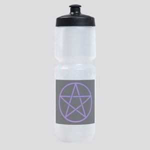 Purple/Black Pentagram Sports Bottle
