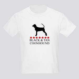 Black And Tan Coonhound (red  Kids Light T-Shirt