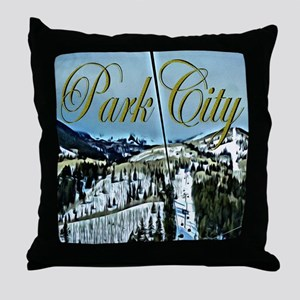 Park City Painted Poster Throw Pillow