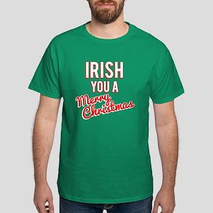 Irish You A Merry Christmas Dark T-Shirt