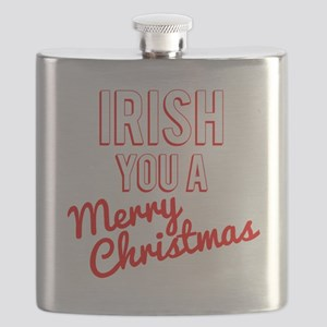 Irish You A Merry Christmas Flask