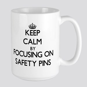 Keep Calm by focusing on Safety Pins Mugs