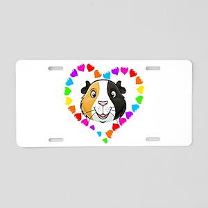 Guinea Pig Heart Frame Aluminum License Plate