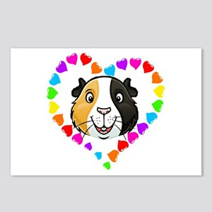 Guinea Pig Heart Frame Postcards (Package of 8)