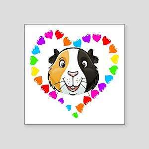 Guinea Pig Heart Frame Sticker