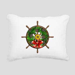 Nautical Ships Wheel Wre Rectangular Canvas Pillow