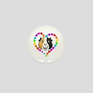 Guinea Pig Heart Frame Mini Button
