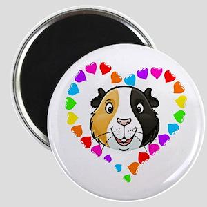 Guinea Pig Heart Frame Magnets
