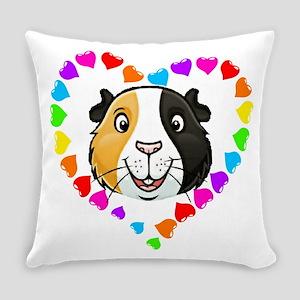 Guinea Pig Heart Frame Everyday Pillow