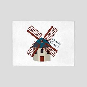 Wonderful Windmills 5'x7'Area Rug
