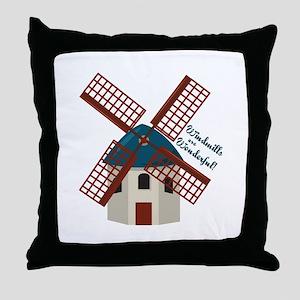 Wonderful Windmills Throw Pillow