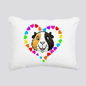 Guinea Pig Heart Frame Rectangular Canvas Pillow