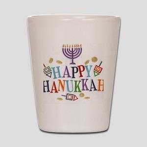 Hanukkah Shot Glass