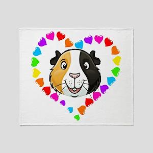 Guinea Pig Heart Frame Throw Blanket