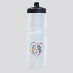 Guinea Pig Heart Frame Sports Bottle
