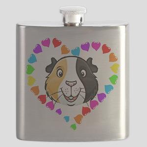 Guinea Pig Heart Frame Flask
