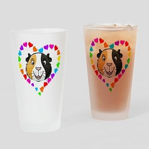 Guinea Pig Heart Frame Drinking Glass