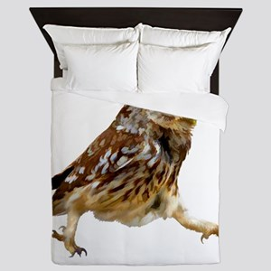 Determined Marching Owl Queen Duvet