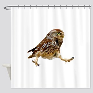 Determined Marching Owl Shower Curtain