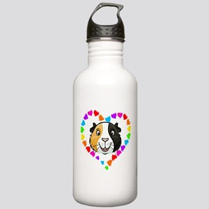 Guinea Pig Heart Frame Water Bottle