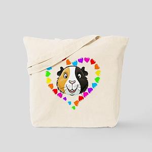 Guinea Pig Heart Frame Tote Bag
