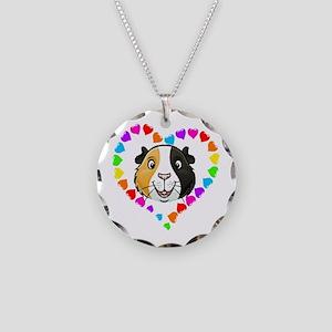 Guinea Pig Heart Frame Necklace