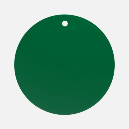 Dark Spring Green Solid Color Ornament (Round)