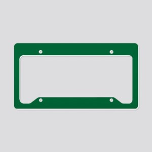 Dark Spring Green Solid Color License Plate Holder