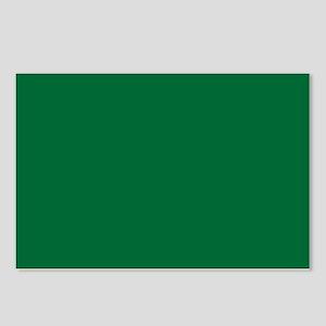 Dark Spring Green Solid Color Postcards (Package o