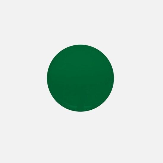 Dark Spring Green Solid Color Mini Button
