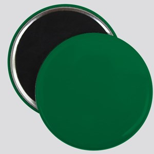 Dark Spring Green Solid Color Magnets
