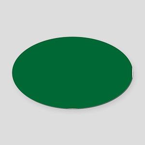 Dark Spring Green Solid Color Oval Car Magnet