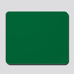 Dark Spring Green Solid Color Mousepad