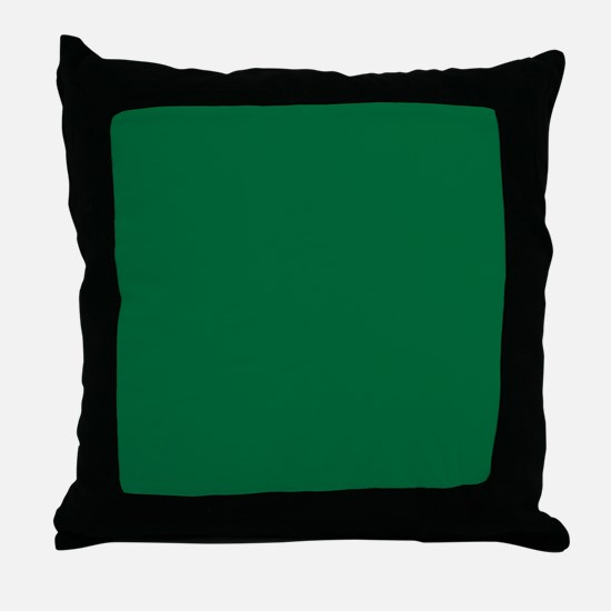 Dark Spring Green Solid Color Throw Pillow