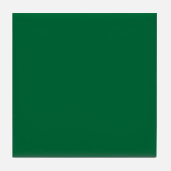 Dark Spring Green Solid Color Tile Coaster
