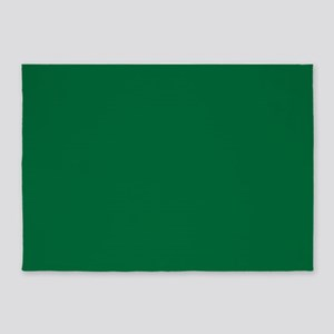 Dark Spring Green Solid Color 5'x7'Area Rug