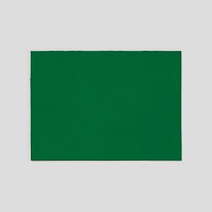 Dark Spring Green Solid Color 5'x7'Area Rug