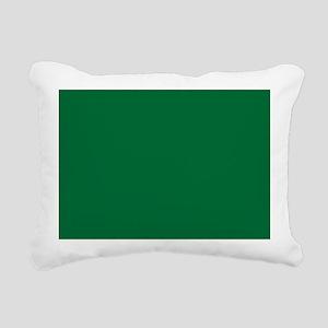 Dark Spring Green Solid Color Rectangular Canvas P